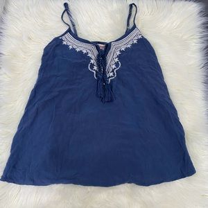 (Mossimo) Loose blue tank top